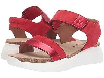 Paul Green Adley Sandal (Red Nubuk Metallic) Women
