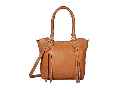 FRYE AND CO. Dallas Tote (Cognac) Tote Handbags