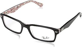 508896f05 Ray-Ban Men's 0rx5206 No Polarization Rectangular Prescription Eyewear Frame,  Top Black on Texture
