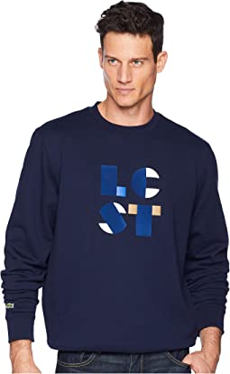 "Long Sleeve ""Lacoste Letter Block"" Graphic Sweatshirt"