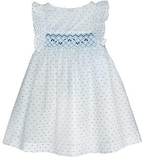 Girls Pin Dot Smocked Angel-Sleeve Dress - Infant, Toddler