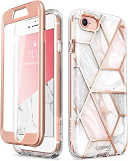 i-Blason Cosmo Case for iPhone 8/ iPhone 7 4.7 inch, [Built-in Screen Protector] Stylish Protective Bumper Case for iPhone 8 (2017) / iPhone 7 (2016) (Marble)