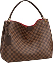 Louis Vuitton Damier Ebene Graceful MM Tote Handbag Article:N44045