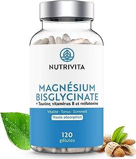 Magnesio Bisglicinato con Taurina, Vitamina B e Melatonina | Dosaggio Potente & Alta Biodisponibilità | Contro lo Stress e...