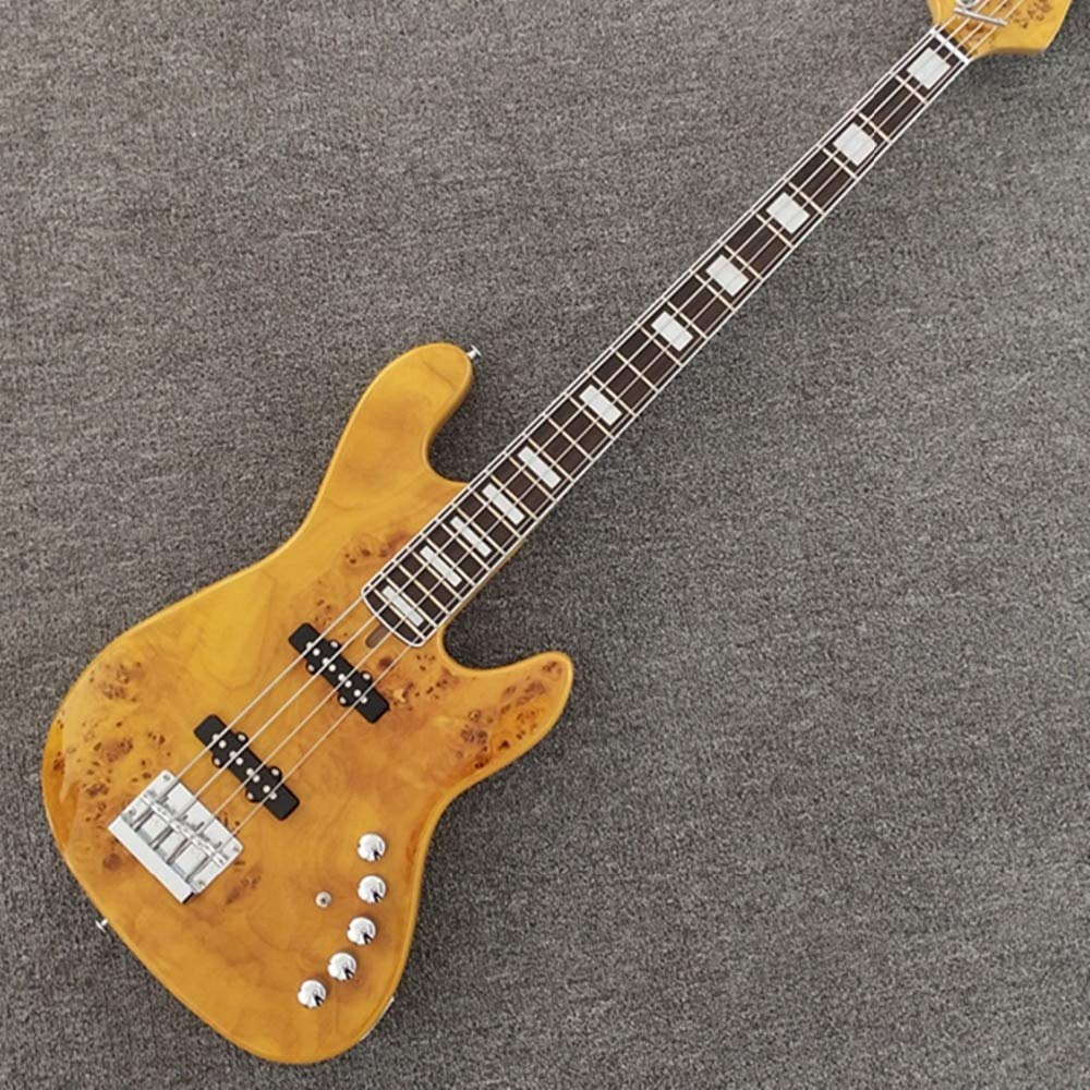 Guitarra eléctrica Burl Pattern Butterfly de 4 cuerdas, madera de ...
