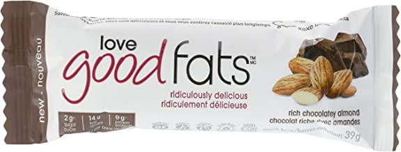 LOVE GOOD FATS Chocolate Almond Snack Bar 12CT, 39 GR
