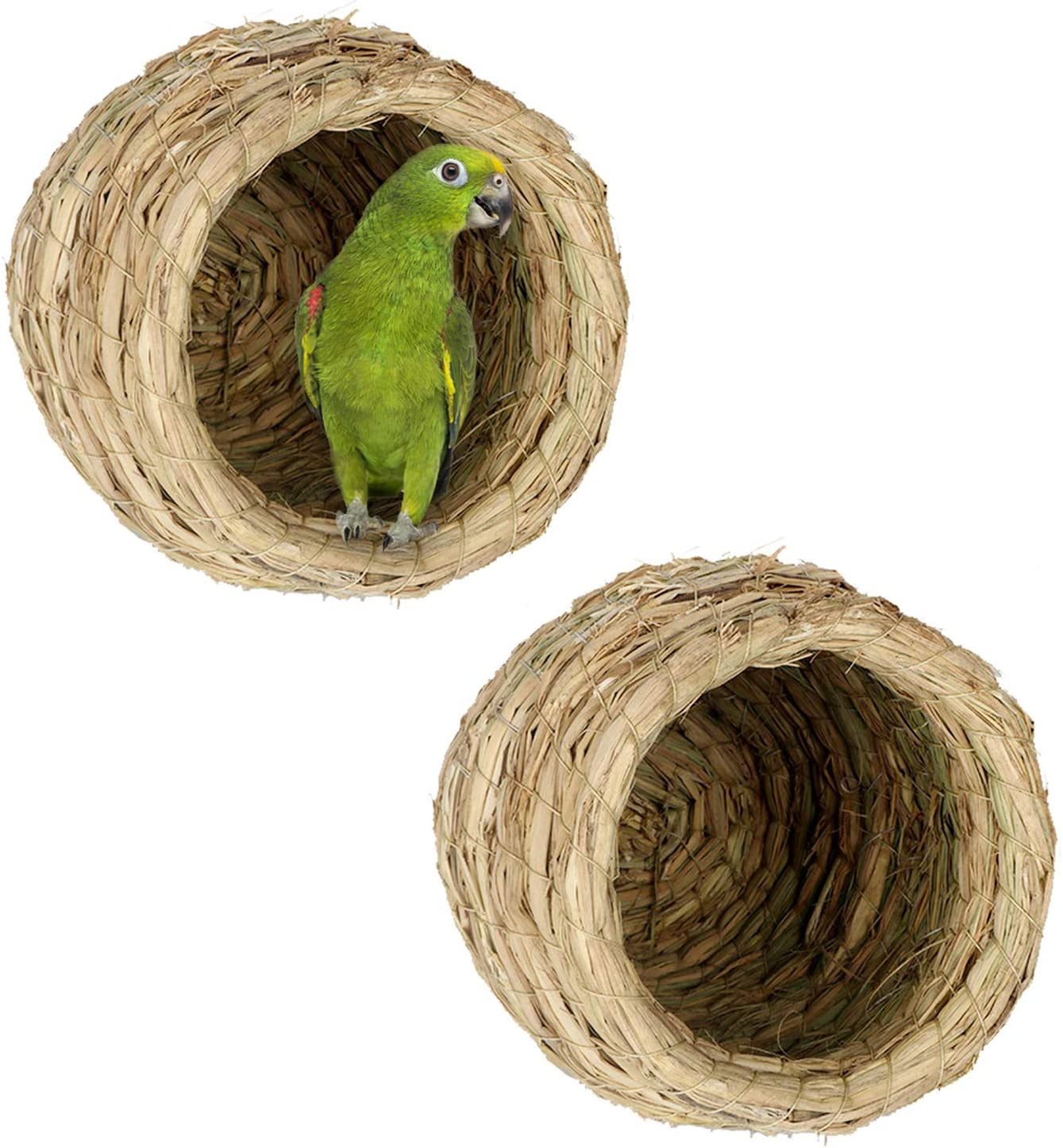 Hamiledyi Max 49% OFF Straw Simulation Bird Nest Fiber Natural Cage for Max 80% OFF