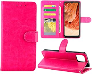 Cellphone case For OPPO F17 / A73 4G Crazy Horse Texture Leather Horizontal Flip Protective Case with Holder & Card Slots ...