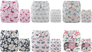 ALVABABY Cloth Diaper One Size Adjustable Washable Reusable for Baby Girls and Boys 6..