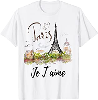 Eiffel Tower Paris Shirt Vintage I Love Paris France Shirt