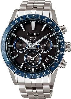 astron Mens Analog Solar Watch with Titanium Bracelet SSH001J1