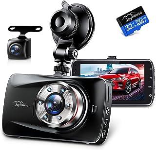 ドライブレコーダー 前後カメラ Sonyセンサー&赤外線暗視ライト 1296PフルHD高画質 170度広角視野 操作簡単 高速起動 駐車監視 常時録画 上書き録画 G-sensor HDR/WDR技術 小型ドラレコ 32GB SDカード付き 日...