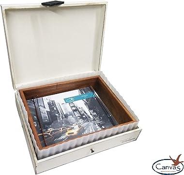 Marco Fotos de Madera Maciza de Tzalam 6x8. Incluye una práctica Caja como un Paquete