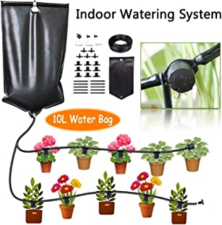 CYEVA Indoor Self Watering System with 10L Water Bag, Gravity Fed Automatic Watering System for 10 Potted Plants, Great He...