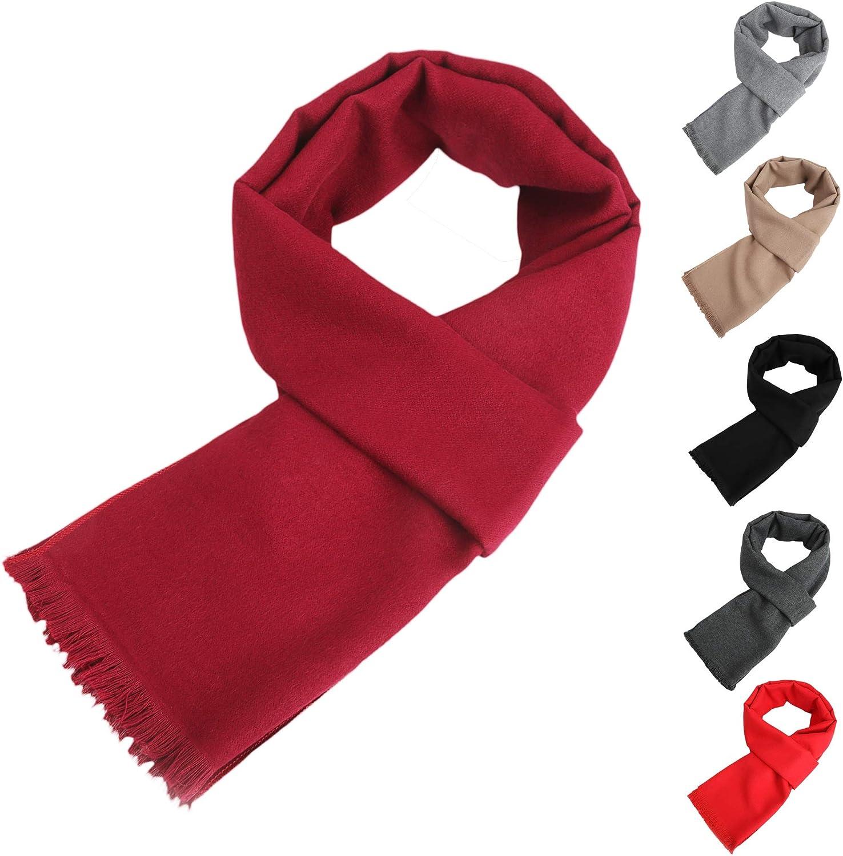 Mens Soft Lightweight Winter Scarf Warm Cashmere Feel Scarves Unisex Fashion Scarf