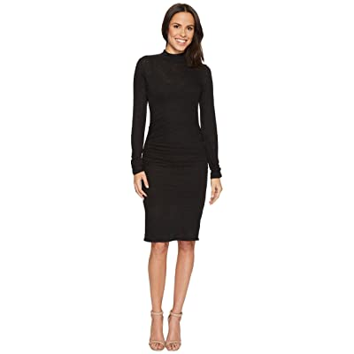 Lanston Turtleneck Long Sleeve Mini Dress (Black) Women