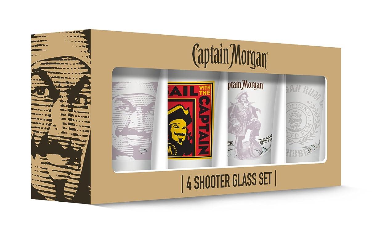 お勧め収入核Captain Morgan Shot Glasses Set of 4, Clear