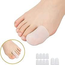 10 piezas de almohadillas de gel para proteger los dedos del pie y proporciona alivio de la pérdida o el crecimiento de las uñas de los pies, evita callos y ampollas, silicona para hombres y mujeres