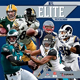 2019 All Stars Wall Calendar, Assorted Football by Turner Licensing