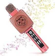 Karaoke Microphone, Karaoke Machine for Kids with Bluetooth Speaker and Song Recorder, Karaoke Microphone for Kids - Wonderful Birthday/Christmas Gifts for Boys/Girls Age 4-18, Kids Karaoke Machine