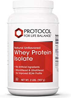 Protocol For Life Balance - Whey Protein Isolate - Tissue Repair, BCAA Profile, Lean Muscle Growth, Supports Immune System...