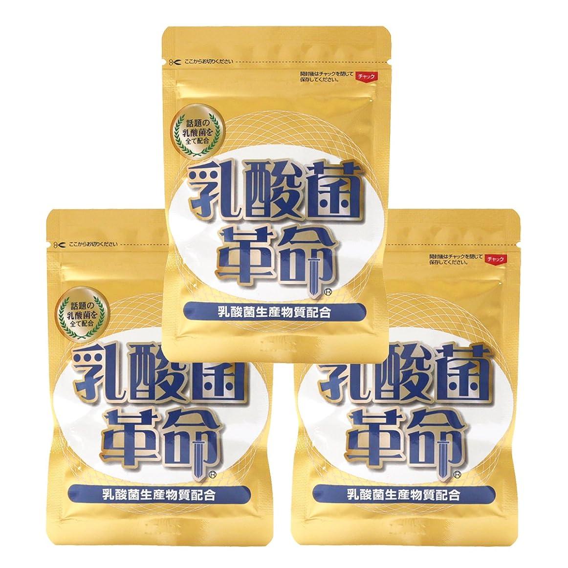 弱い廃止するに対処する健康いきいき倶楽部 乳酸菌革命 3袋セット (62粒入×3袋) 乳酸菌 サプリ