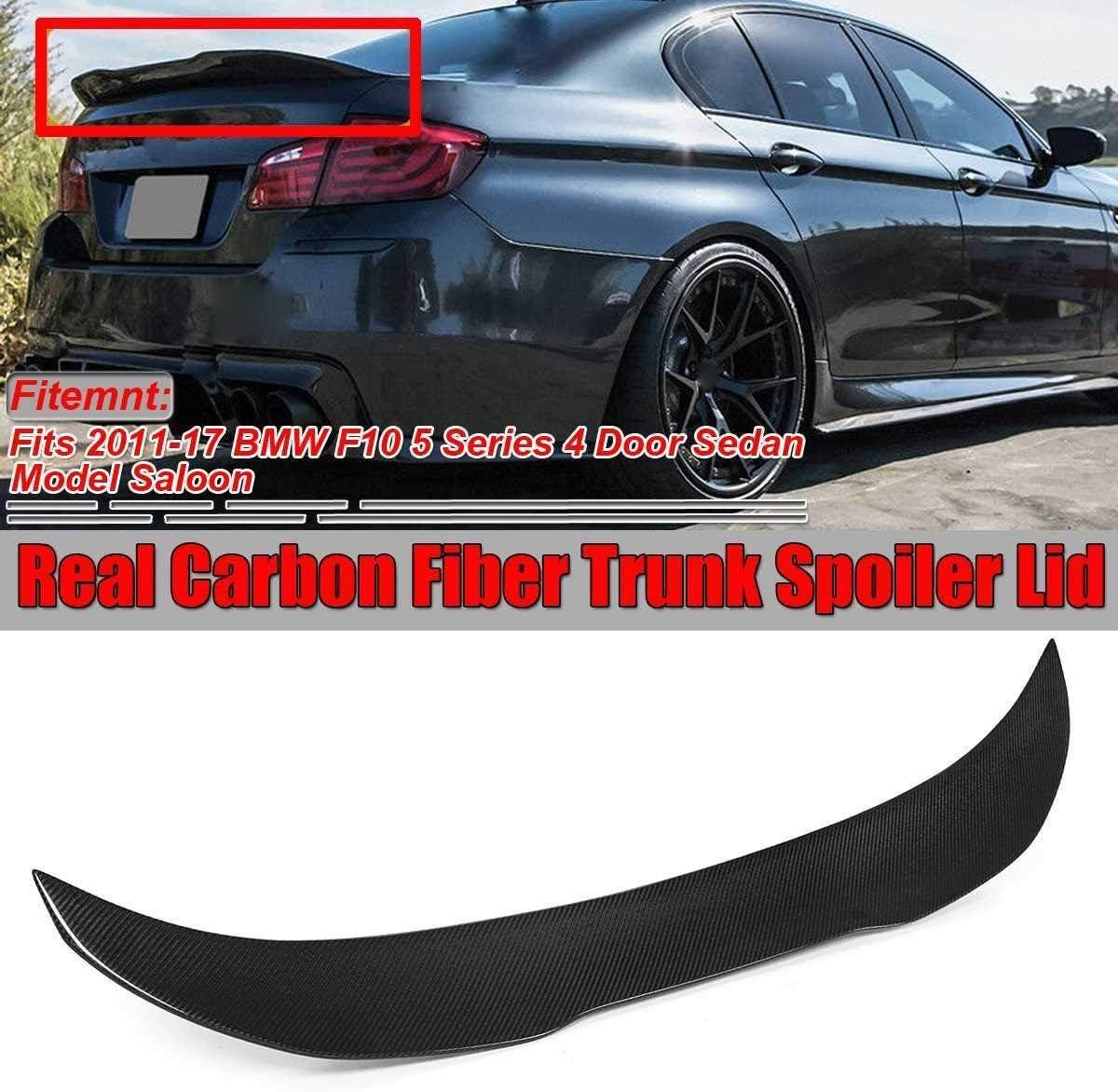 IVNGRI Real Max 62% OFF unisex Carbon Fiber F10 Car Lip Rear Spoiler Trunk Boot Win