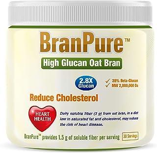 BranPure 2.8X Oat Bran Fiber for Heart and Gut Health - Each Serving Equals 15 g Regular Oat Bran