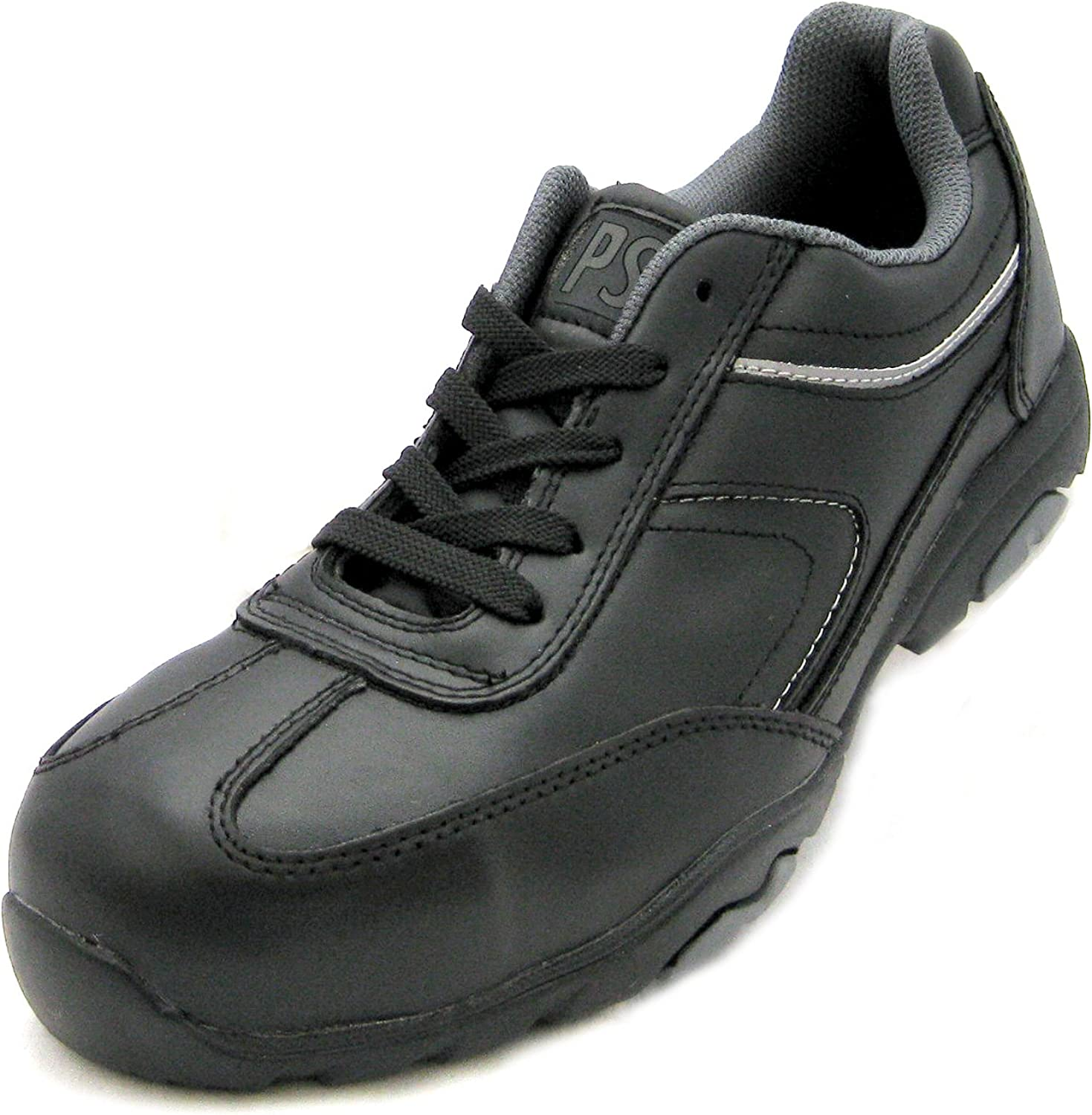 PSF Terrain Black Work Safety Trainers With Non Metal Composite Toe Cap