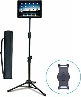 """Aidata US-5009B ViewStand Universal Tablet Tripod Base, Height Adjustable Pole from 70-146cm (27.6"""" to 57.5""""), Strong Spri..."""