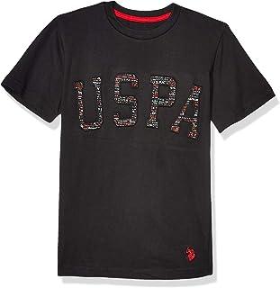 U.S. POLO ASSN. boys Short Sleeve Graphic Crew Neck T-Shirt T-Shirt