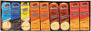 Austin 827544 Cookies and Crackers, Assorted, 1.38 oz per Pack, 45 Packs/Box