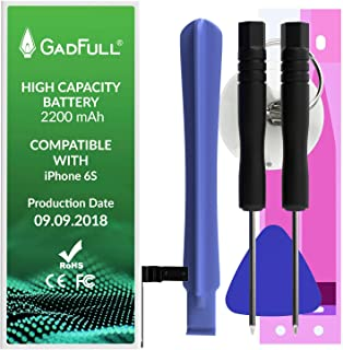 GadFull Batería de Alta Capacidad de reemplazo para iPhone 6S | 2018 Fecha de producción | Incluye Manual de reparación y Kit Profesional de Juego de Herramientas