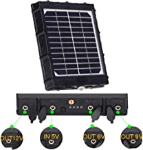Trail Camera Solar Panel 8000mAh Supporting 3 Voltages 12V/1.2A 9V/1.6A 6V/2.4A 3W IP54 Waterproof Charger for All Hunting Game Camera All 3G 4G Trail cam by TKKOK
