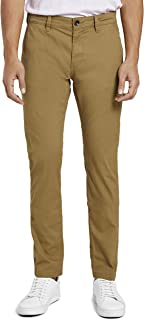 TOM TAILOR Men's Classic Washed Trouser, 24373-Sallow Thorn Yellow, 32