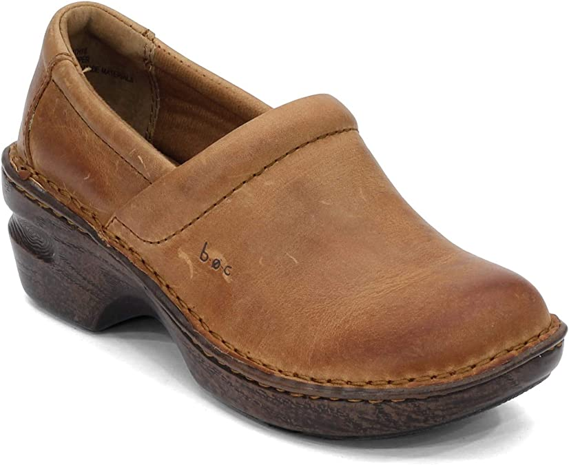 Women Peggy Tooled Leather Clogs b.o.c