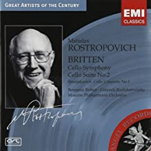 Britten: Cello Symphony; Cello Suite No. 2 / Shostokovich: Cello Concerto No. 1 ~ Rostropovich