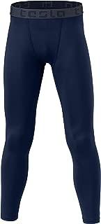 TSLA Boy's Compression Pants Baselayer Cool Dry Sports Tights Leggings