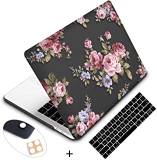 Holilife MacBook Pro 13 inch Case,Ultra Slim Plastic Hard Shell Soft-Touch Snap On Cover Compatible MacBook New Pro 13 inch with/Out Touch Bar and Touch ID(Model: A2159/A1989/A1706/A1708),Peony Flower