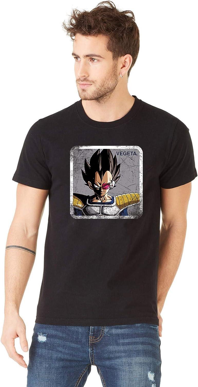 Capslab Camiseta Vegeta Negra para Hombre