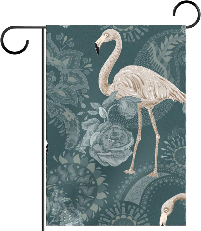 huiyueqiche Flamingos and Tropical Plants Garden 28 In SALENEW very Charlotte Mall popular 40 x Flag