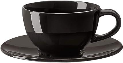 كوب قهوة وطبق من فارداغن، رمادي داكن