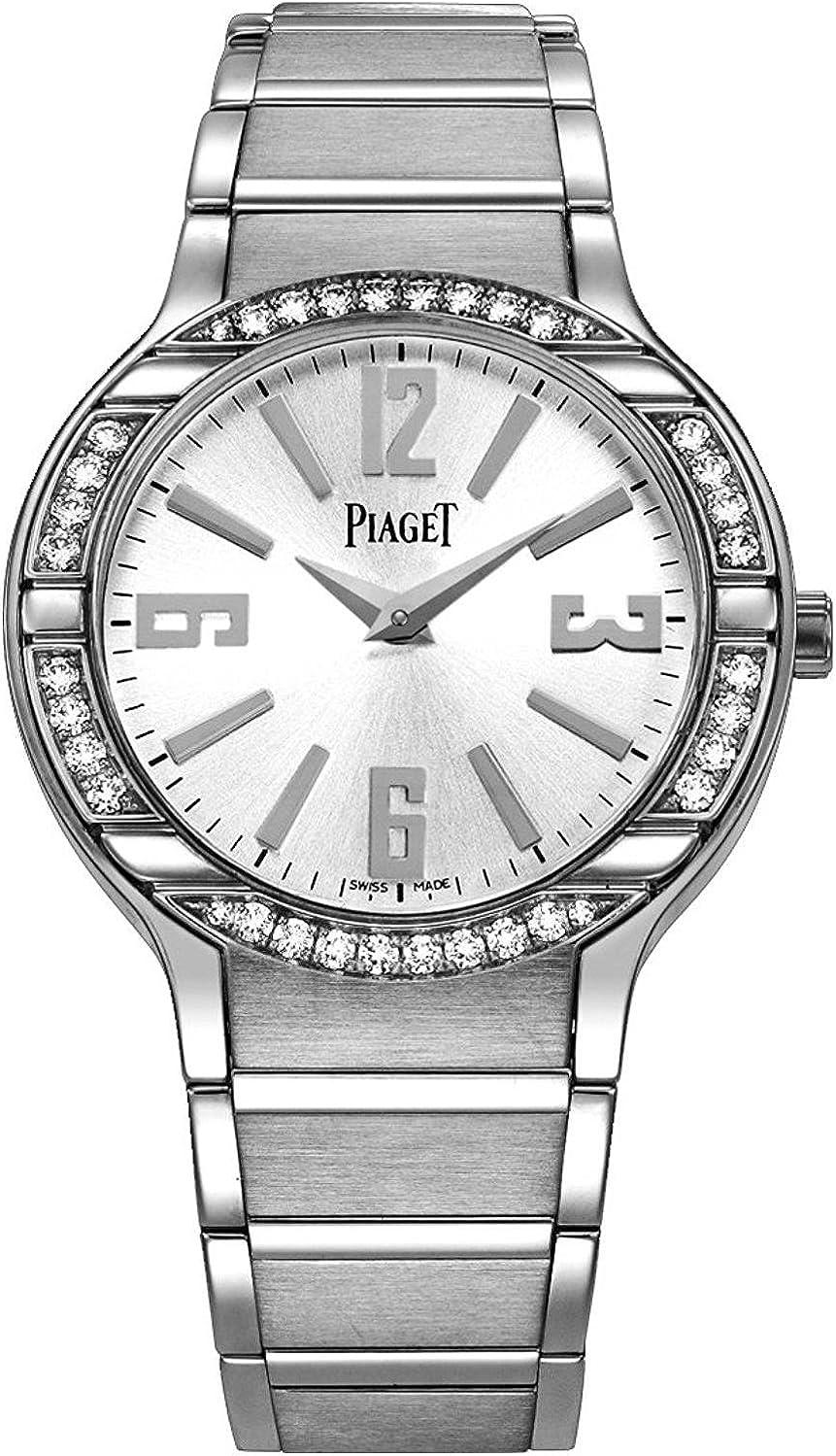 Piaget Polo Women's Silver Dial White Gold Diamond Swiss Made Watch G0A36231