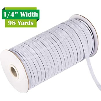 White Elastic Cord 70-Yards Elastic String Flat Elastic 1//4 inch 6mm Braided Elastic Cord//Elastic Rope//Heavy Stretch Knit Elastic Spool Elastic Band for Sewing Clothes,Crafts