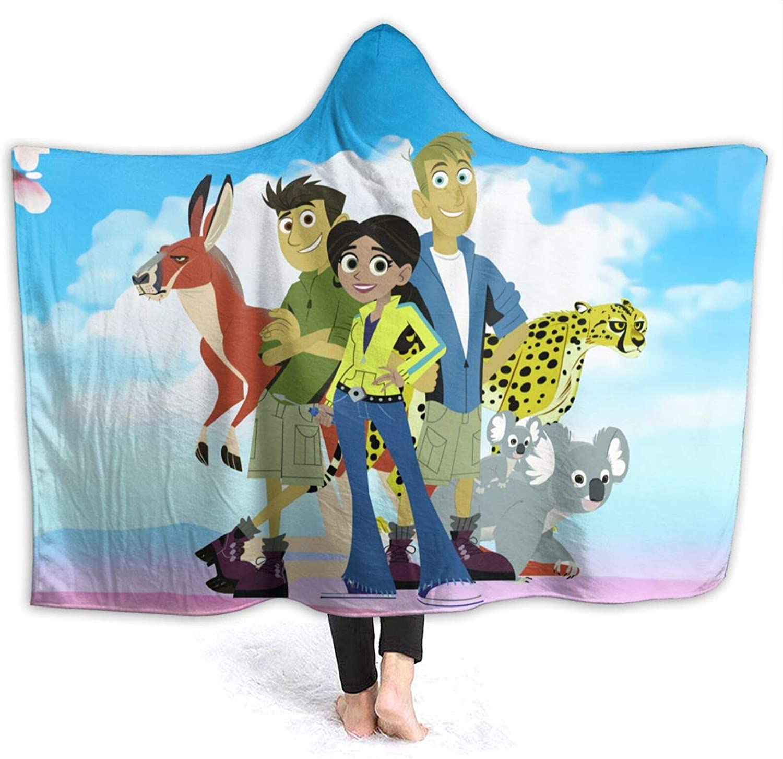 Keerqingqu Save money Wild Kratts Hooded Blanket Warm Fleece Boston Mall with H