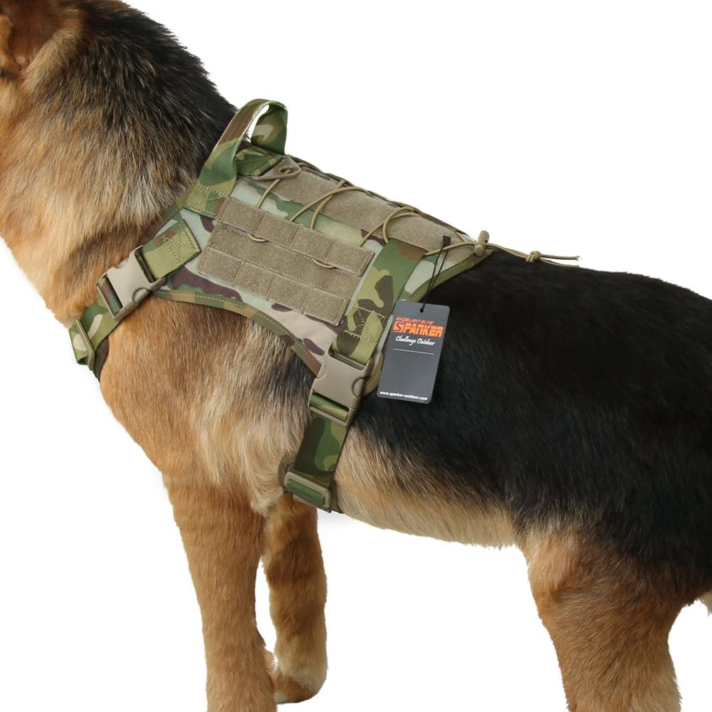 EXCELLENT safety ELITE Ranking TOP20 SPANKER Tactical Harnes Military Dog Harness