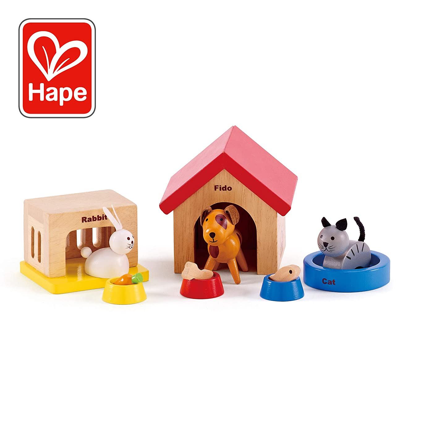 Hape Family Pets Wooden Doll House Animals b60312301