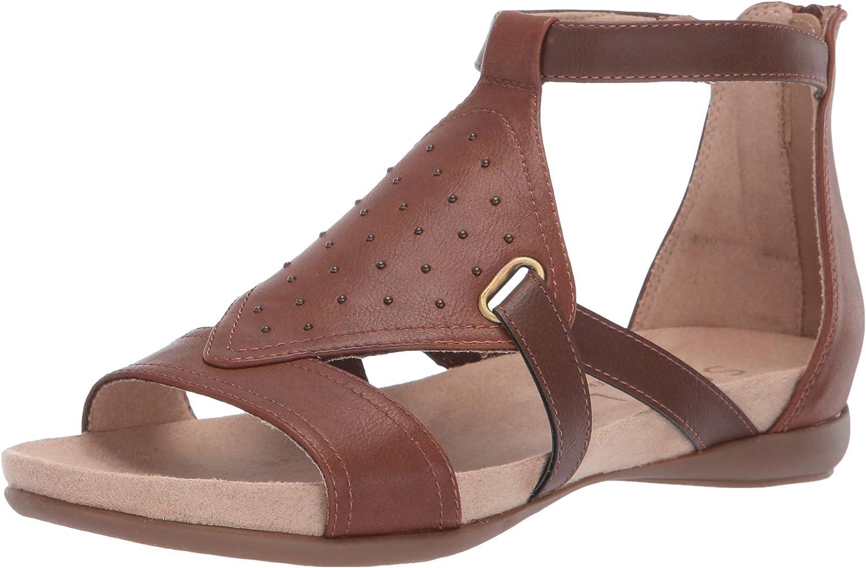 SOUL Naturalizer Women's AVONLEE Flat Sandal, MID Brown, 11 M US