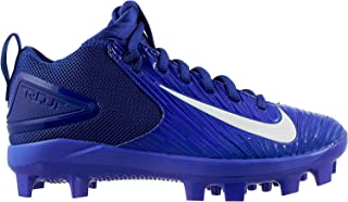 Nike Kids' Force Trout 3 Pro Mid Baseball Cleats (2, Blue/White)