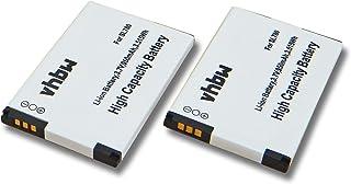 vhbw 2X Li Ion Akku Set 950mAh (3.7V) für schnurlos Festnetz Telefon Siemens Gigaset SL450, SL450H, SL450HX wie 4250366817255.